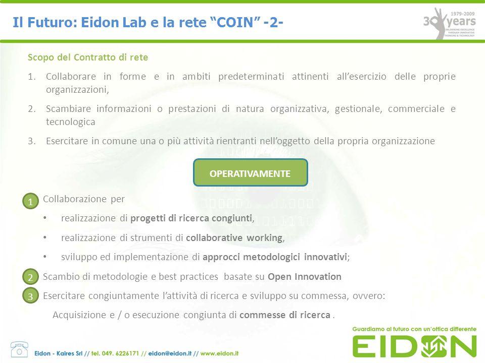 Il Futuro: Eidon Lab e la rete COIN -2-