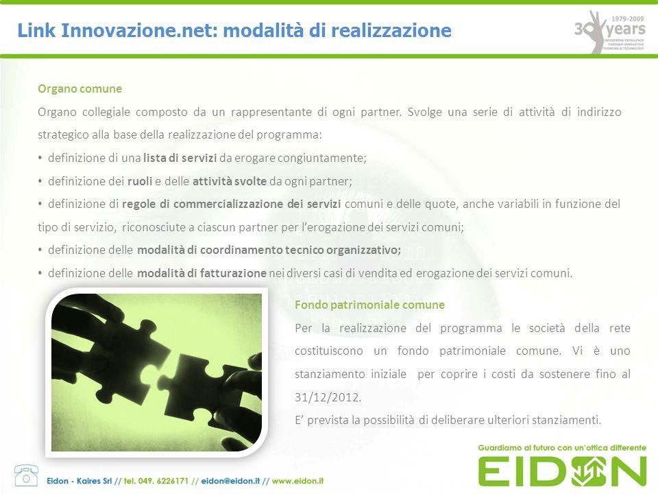 Link Innovazione.net: modalità di realizzazione