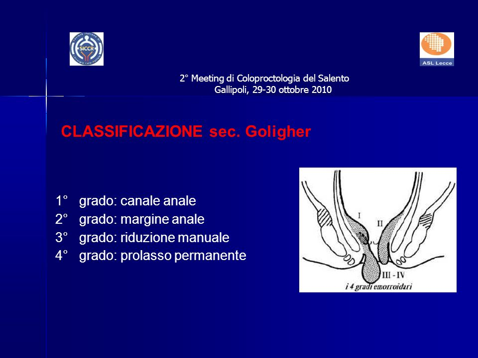 CLASSIFICAZIONE sec. Goligher