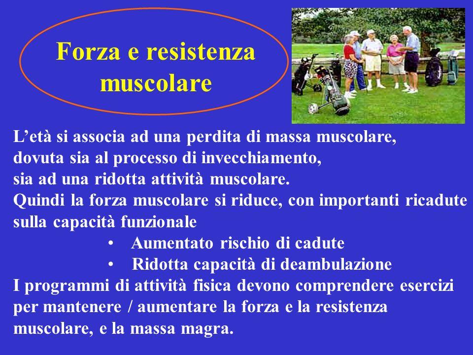 Forza e resistenza muscolare
