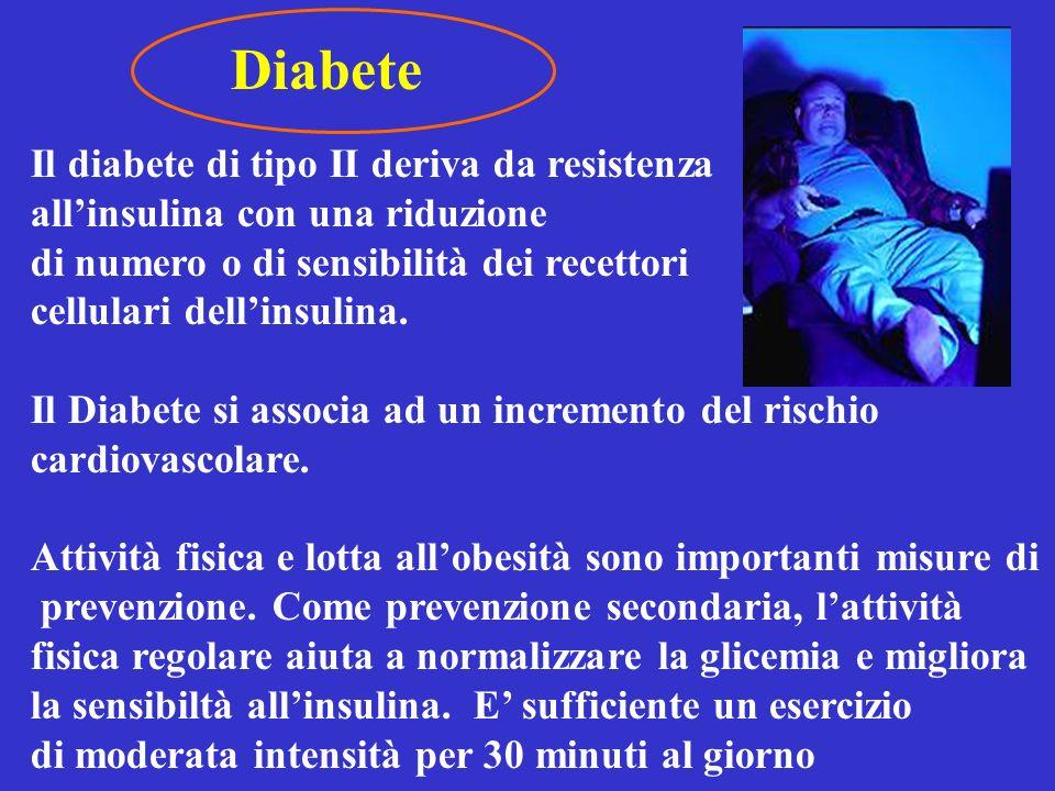 Diabete Il diabete di tipo II deriva da resistenza