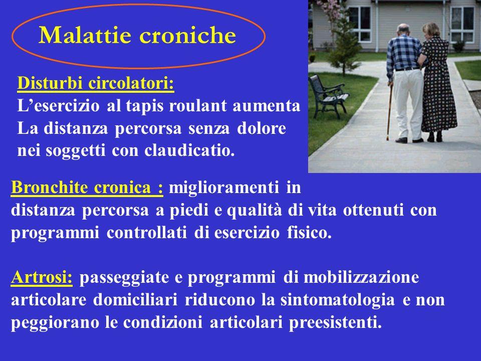 Malattie croniche Disturbi circolatori: