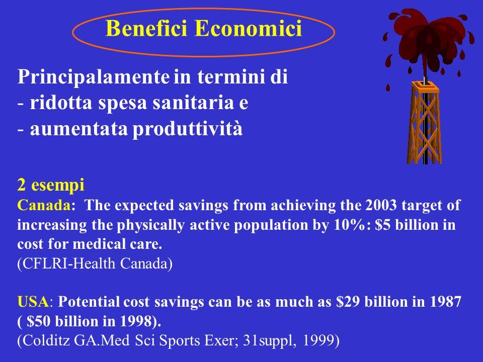 Benefici Economici Principalamente in termini di