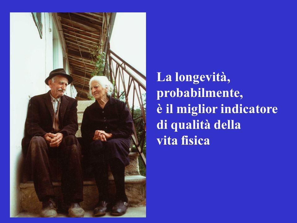 La longevità, probabilmente, è il miglior indicatore di qualità della vita fisica