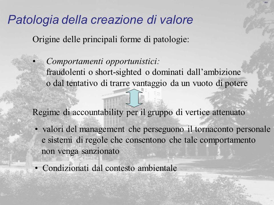 Patologia della creazione di valore