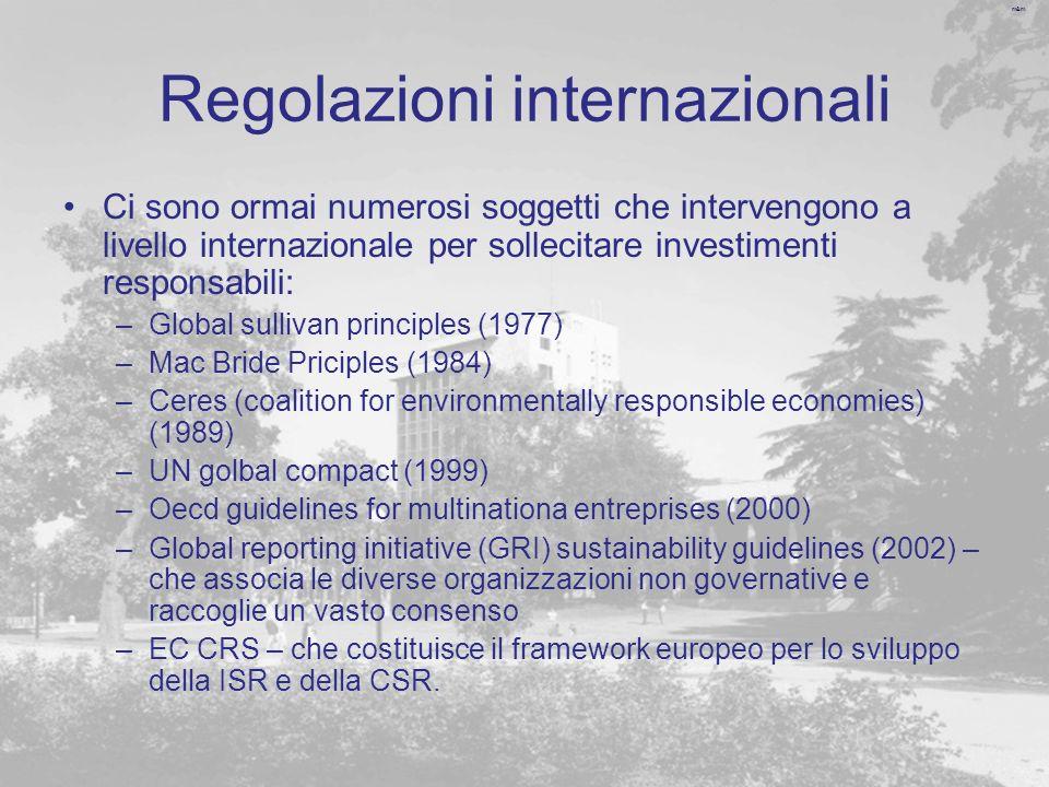 Regolazioni internazionali