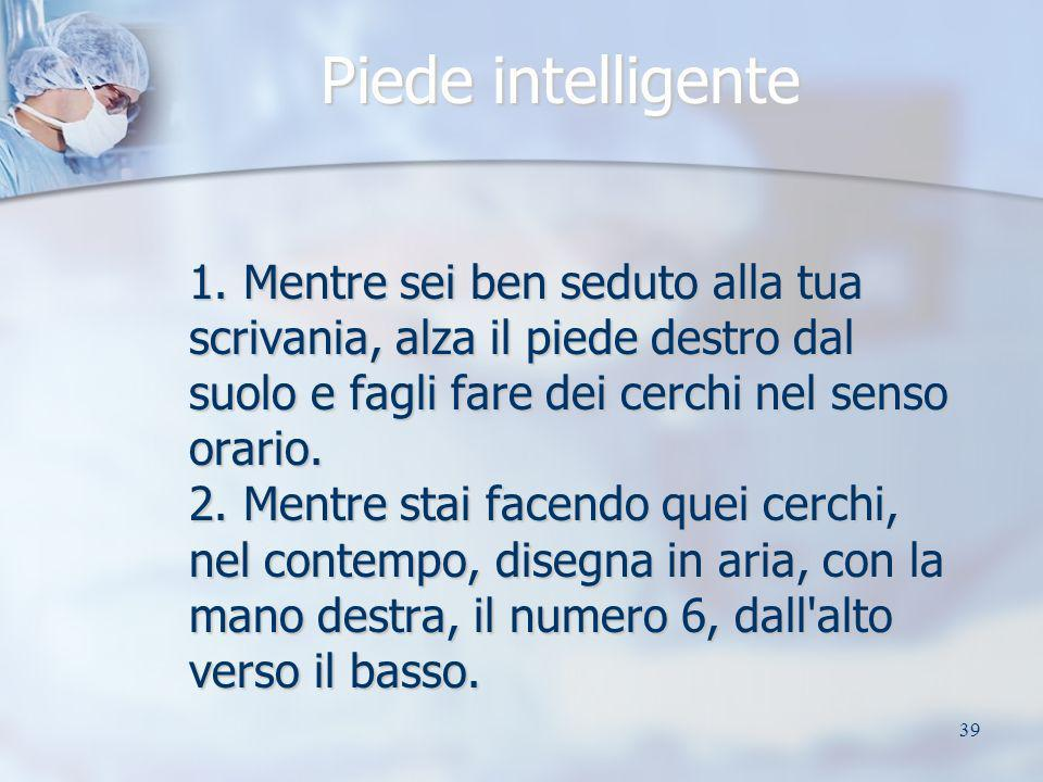 Piede intelligente