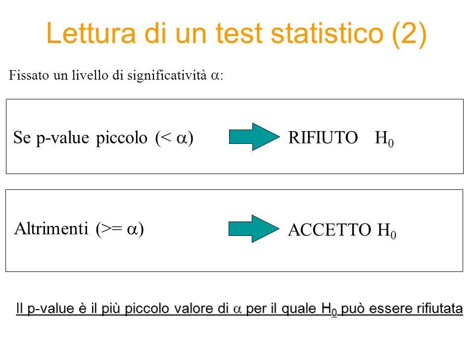 Lettura di un test statistico (2)