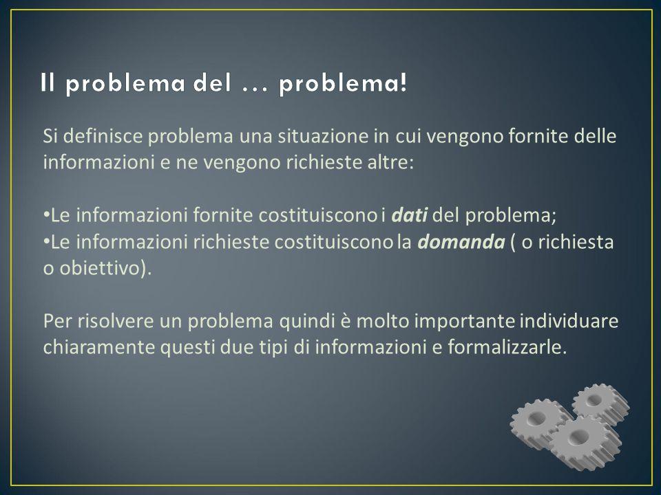 Il problema del … problema!