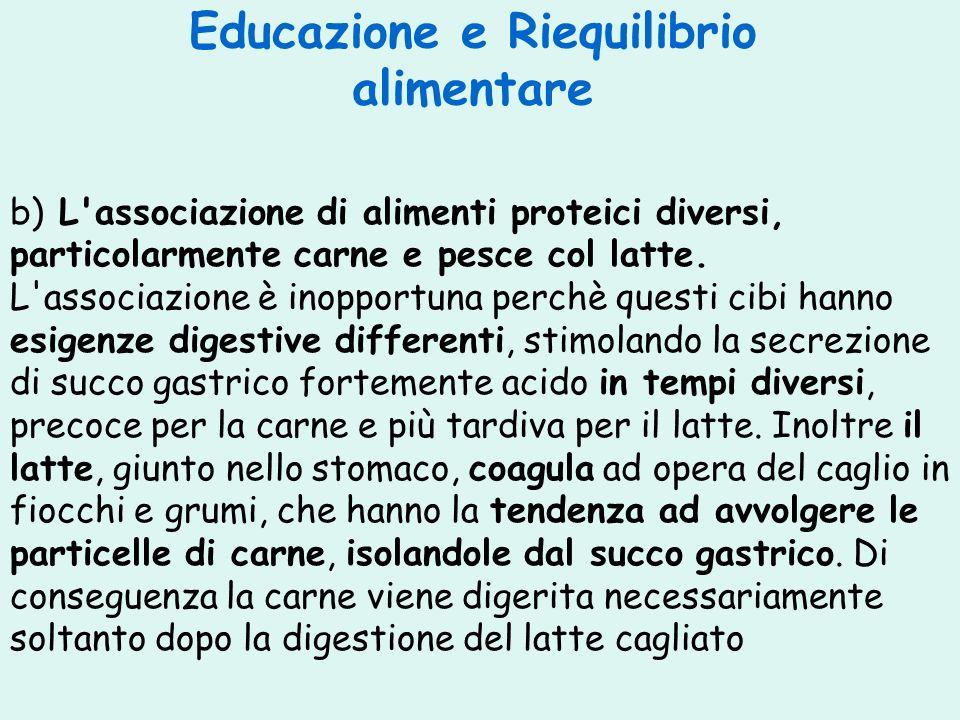 Educazione e Riequilibrio alimentare