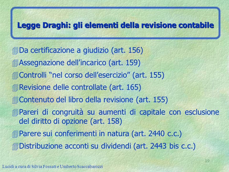 Legge Draghi: gli elementi della revisione contabile