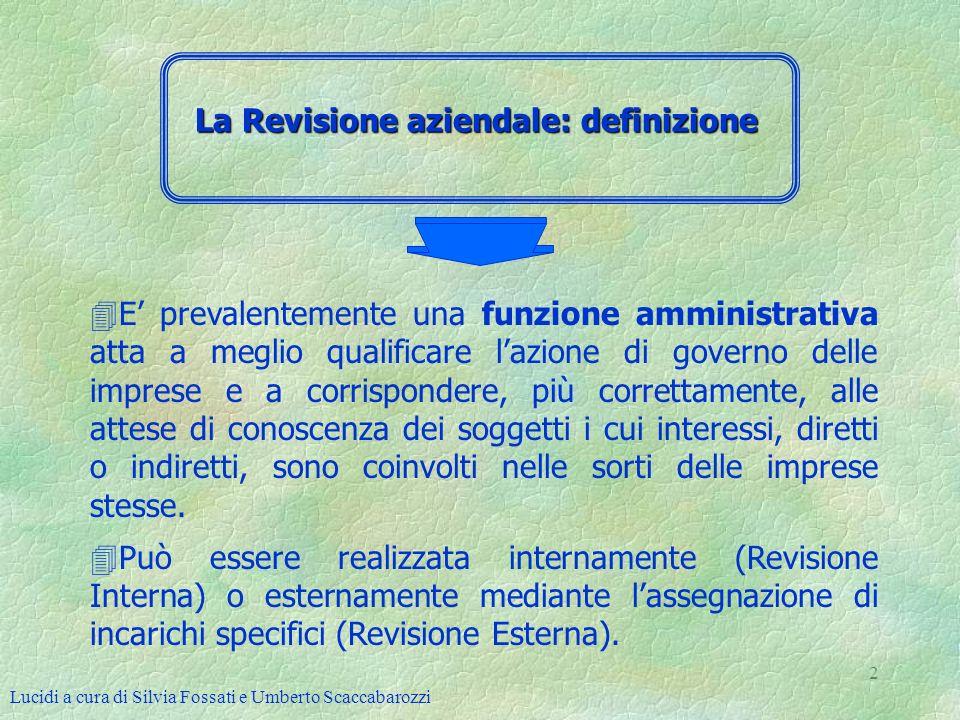 La Revisione aziendale: definizione