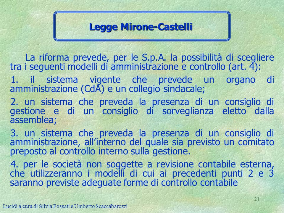 Legge Mirone-Castelli