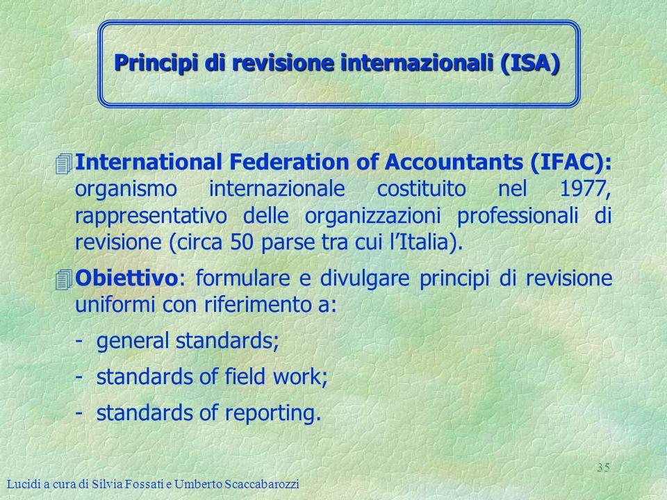 Principi di revisione internazionali (ISA)