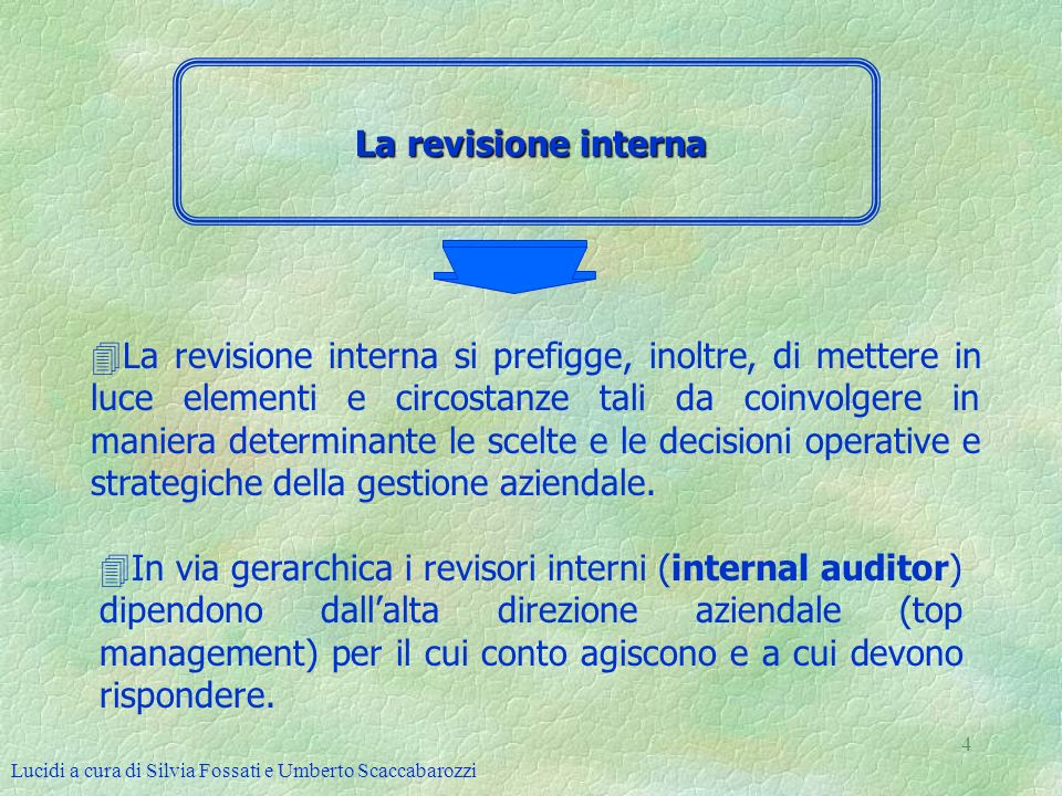 La revisione interna
