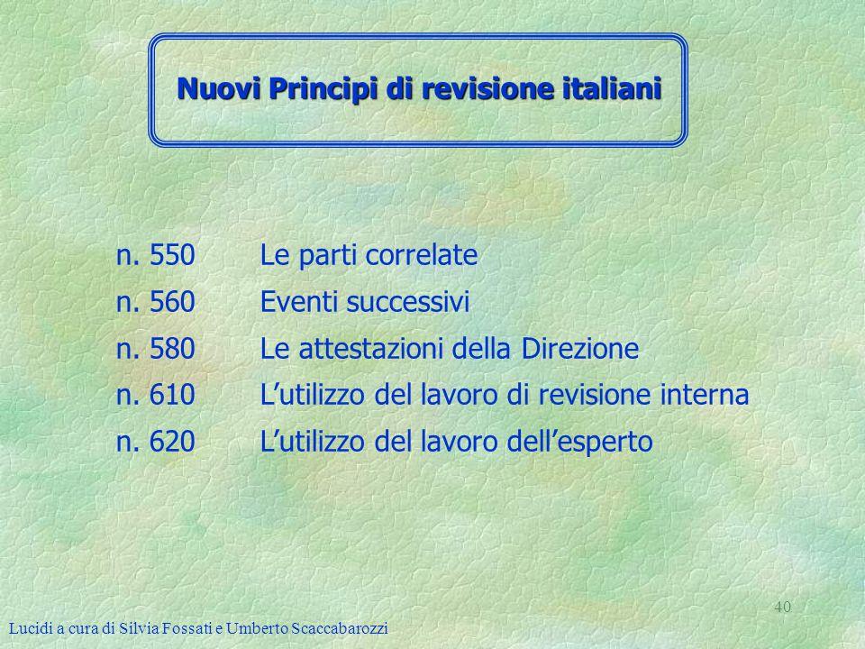 Nuovi Principi di revisione italiani