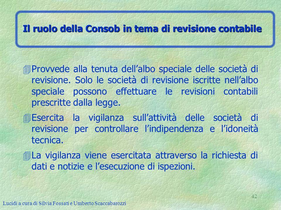 Il ruolo della Consob in tema di revisione contabile