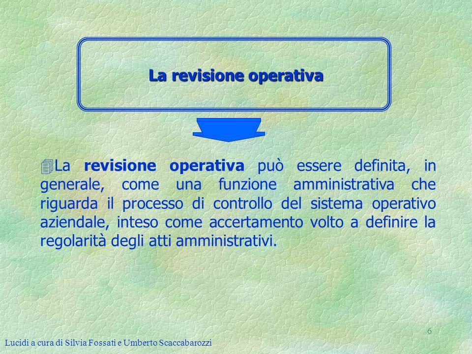 La revisione operativa