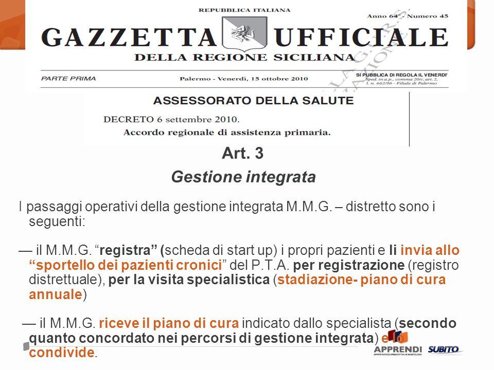 Art. 3 Gestione integrata