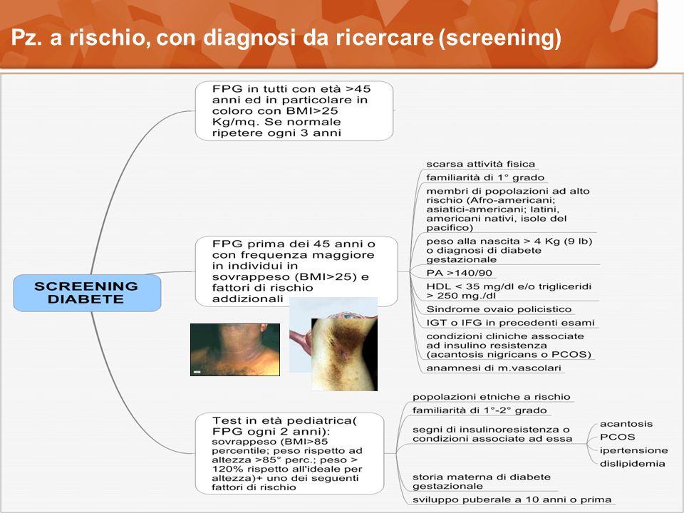 Pz. a rischio, con diagnosi da ricercare (screening)