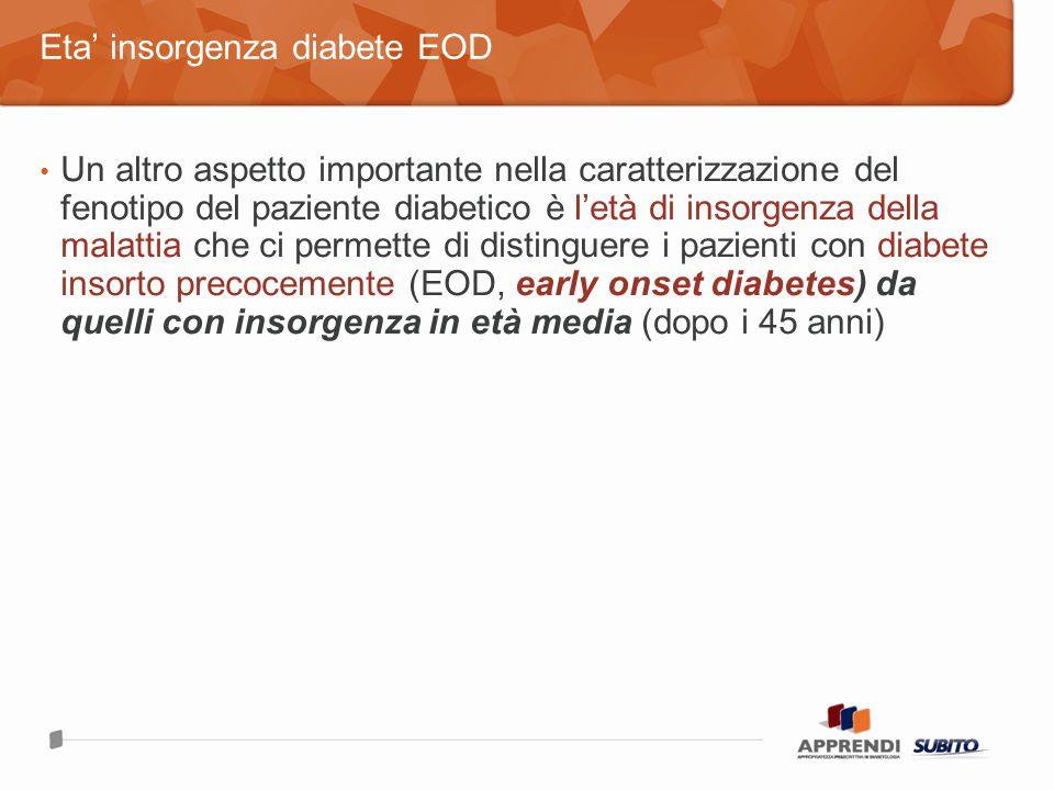 Eta' insorgenza diabete EOD