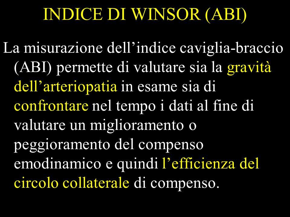 INDICE DI WINSOR (ABI)