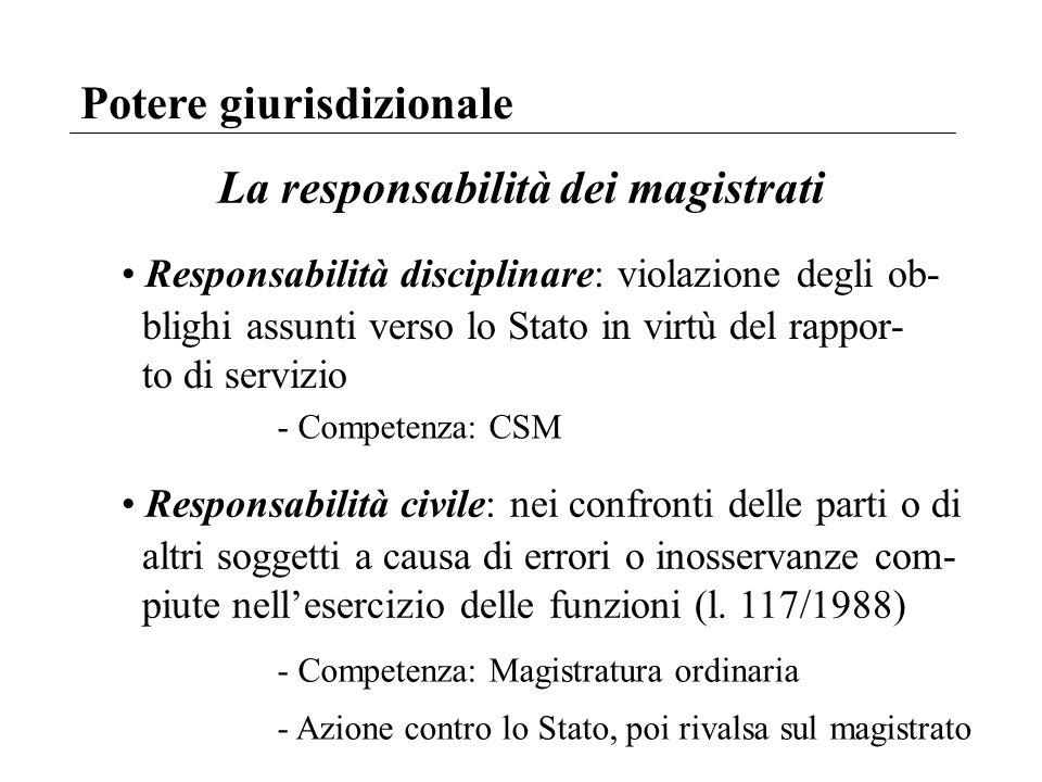 La responsabilità dei magistrati