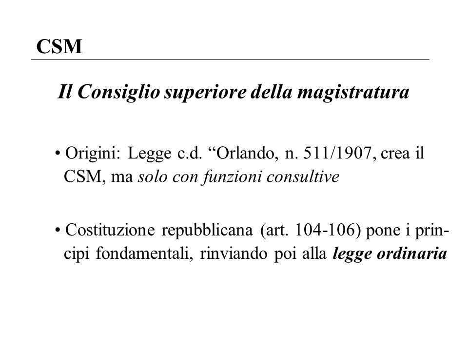 La magistratura giancarlo rando a a 2009 ppt video for Consiglio superiore della magistratura