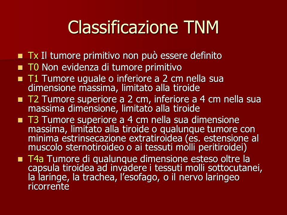 Classificazione TNM Tx Il tumore primitivo non può essere definito