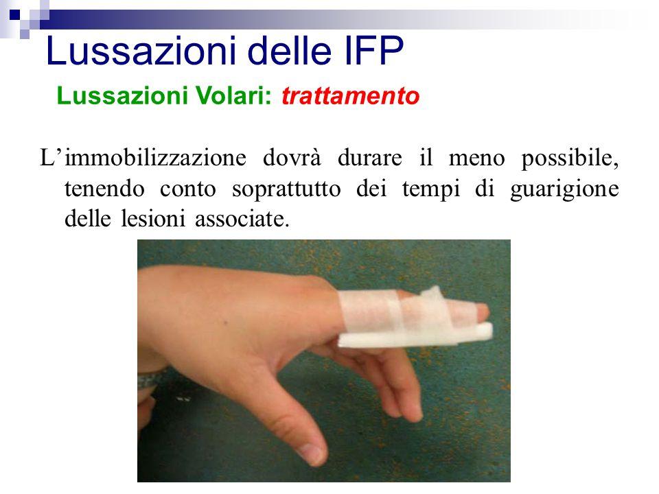 Lussazioni delle IFP Lussazioni Volari: trattamento