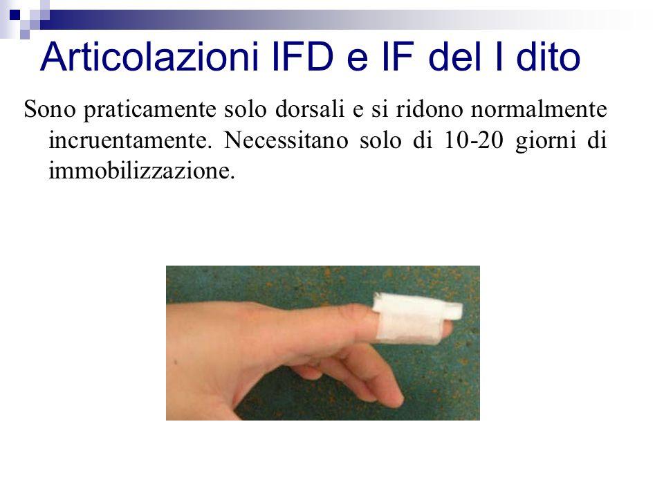 Articolazioni IFD e IF del I dito