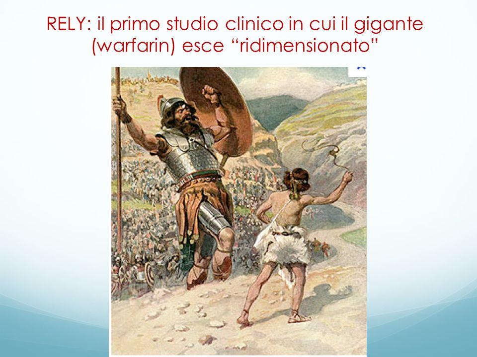 RELY: il primo studio clinico in cui il gigante (warfarin) esce ridimensionato