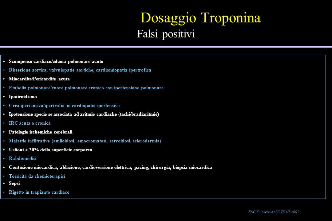 Dosaggio Troponina Falsi positivi