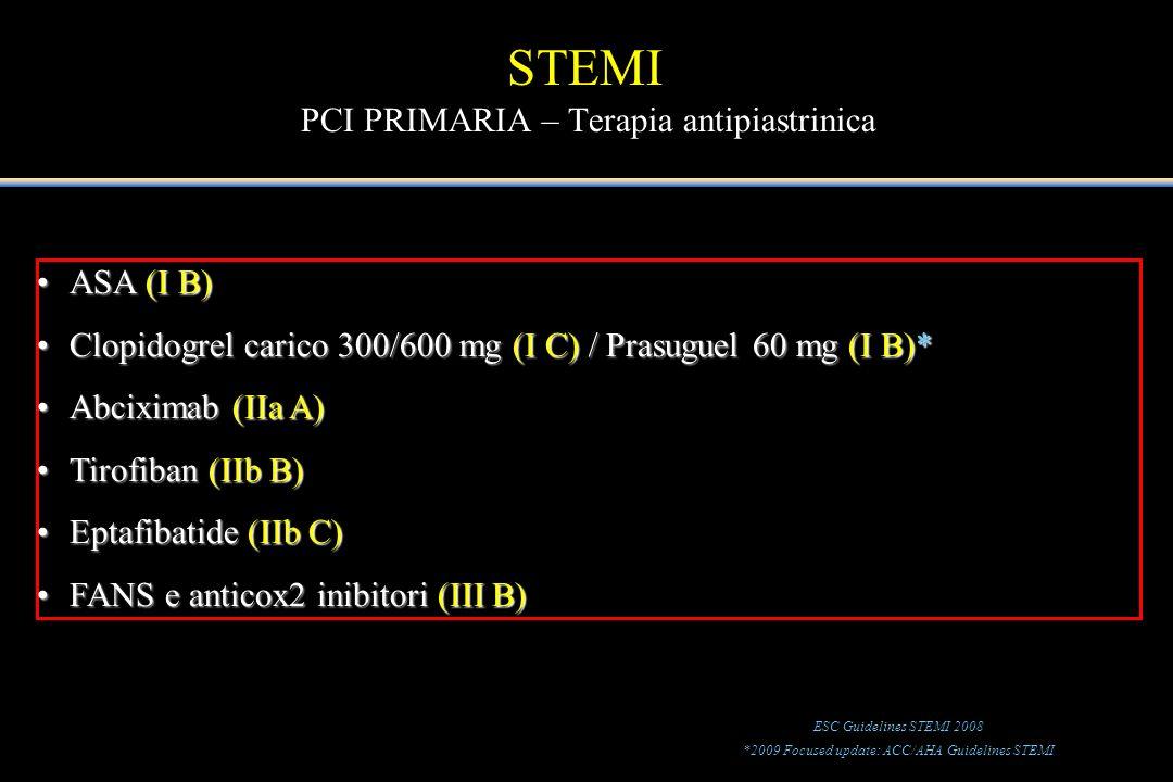 STEMI PCI PRIMARIA – Terapia antipiastrinica