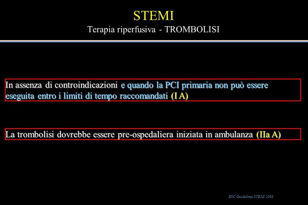 STEMI Terapia riperfusiva - TROMBOLISI