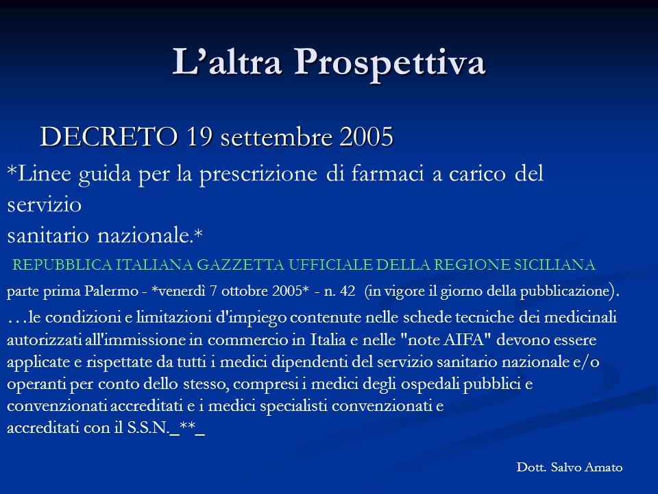 L'altra Prospettiva DECRETO 19 settembre 2005