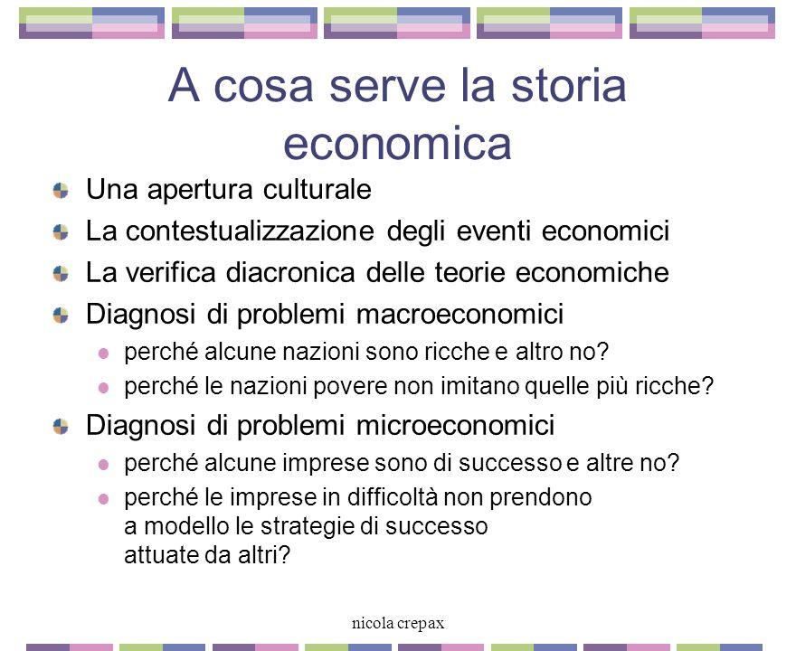 A cosa serve la storia economica