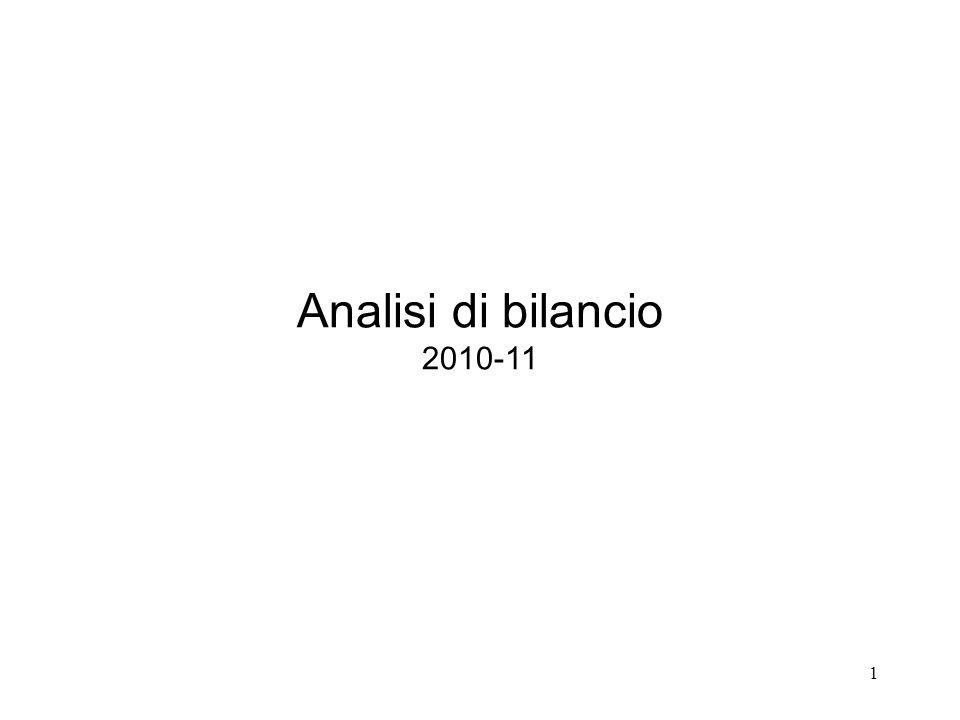 Analisi di bilancio 2010-11