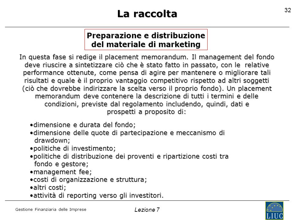 Preparazione e distribuzione del materiale di marketing