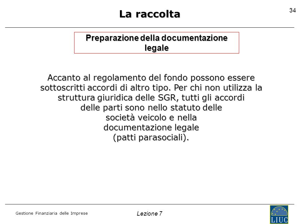 Preparazione della documentazione legale