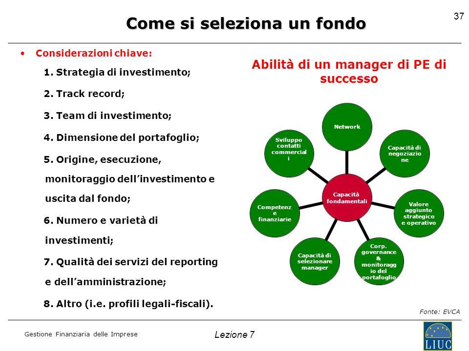 Come si seleziona un fondo Abilità di un manager di PE di successo
