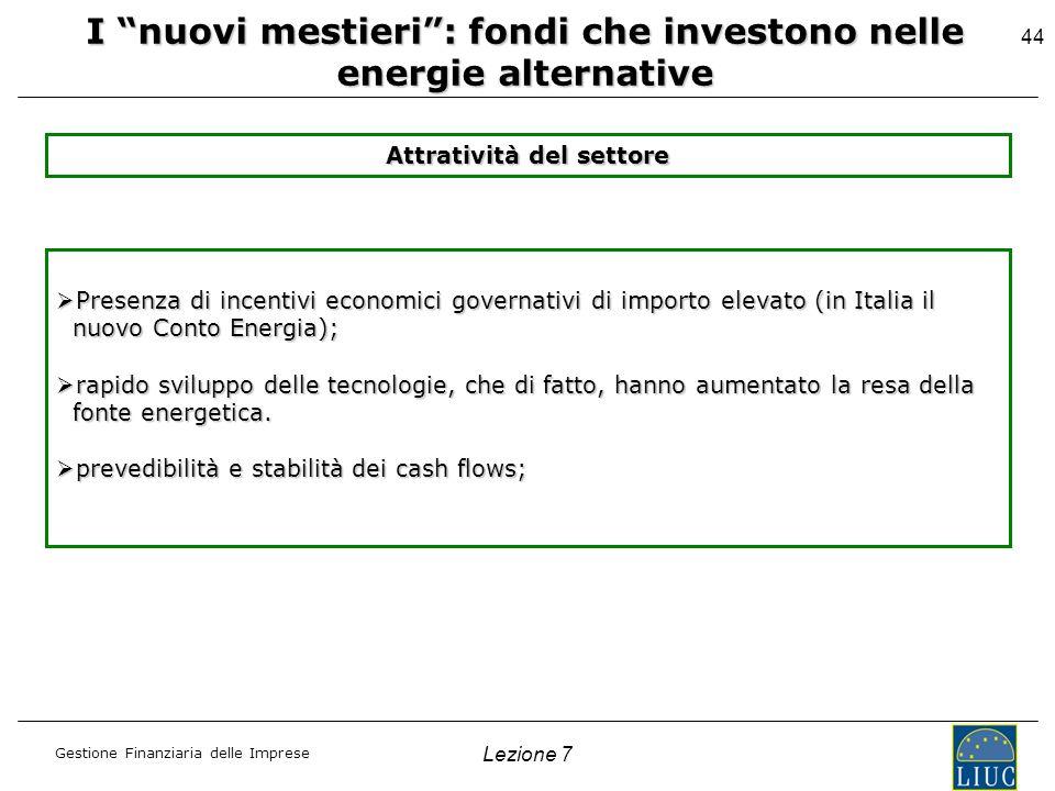 I nuovi mestieri : fondi che investono nelle energie alternative