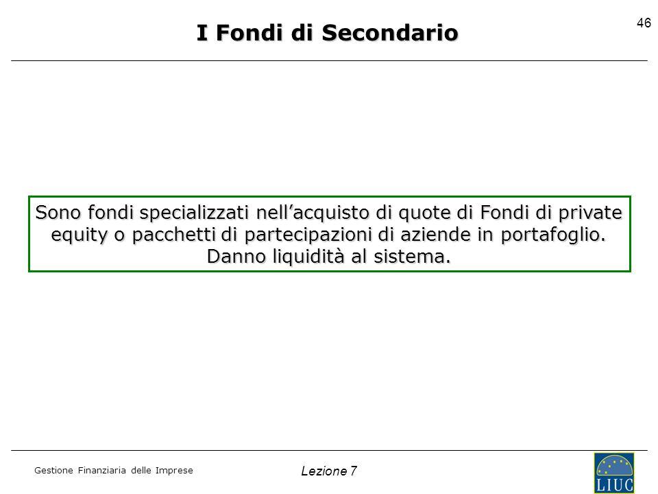 I Fondi di Secondario