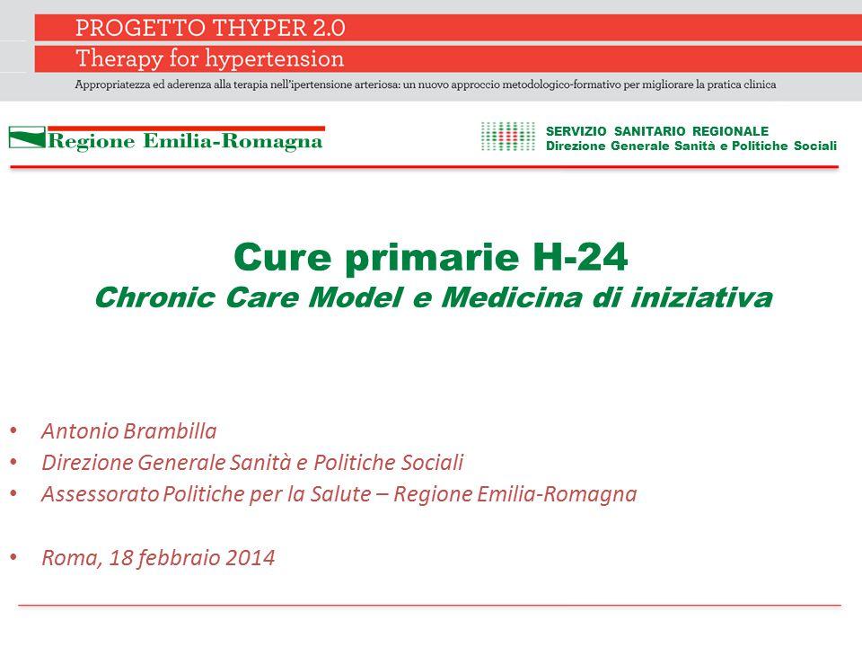 Cure primarie H-24 Chronic Care Model e Medicina di iniziativa