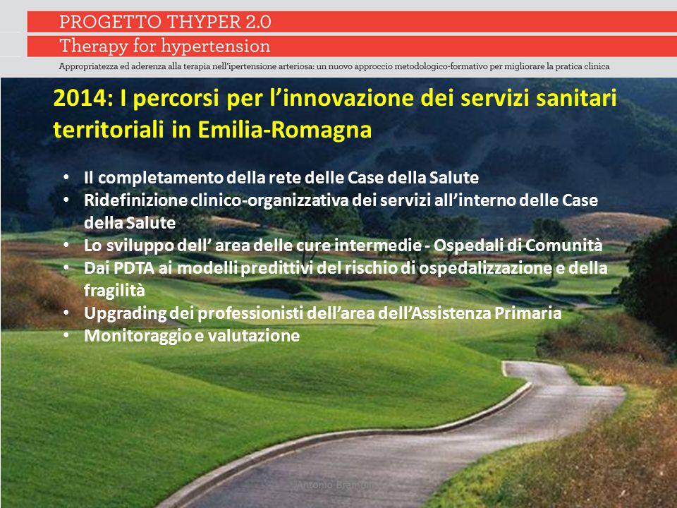 2014: I percorsi per l'innovazione dei servizi sanitari territoriali in Emilia-Romagna