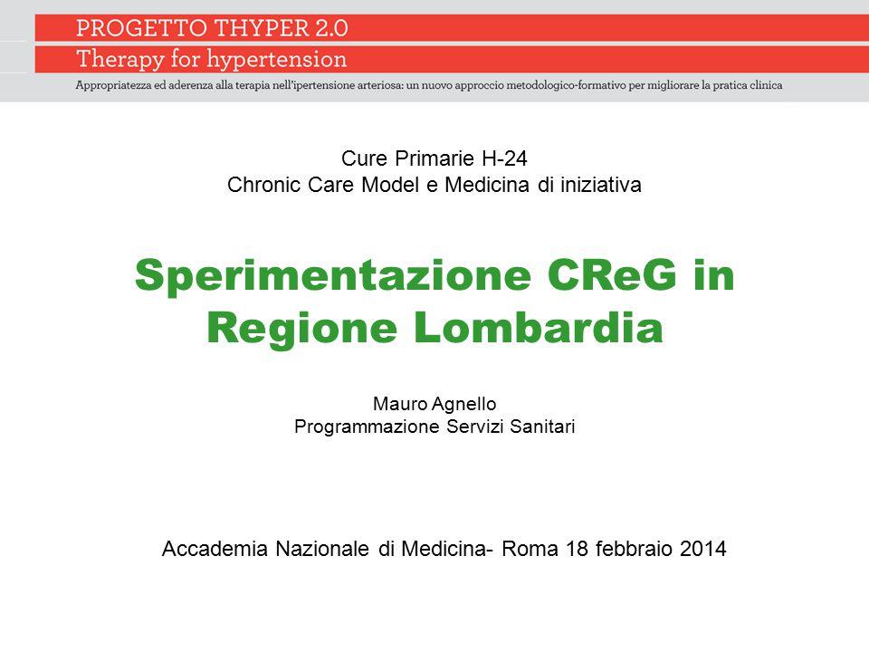 Sperimentazione CReG in Regione Lombardia