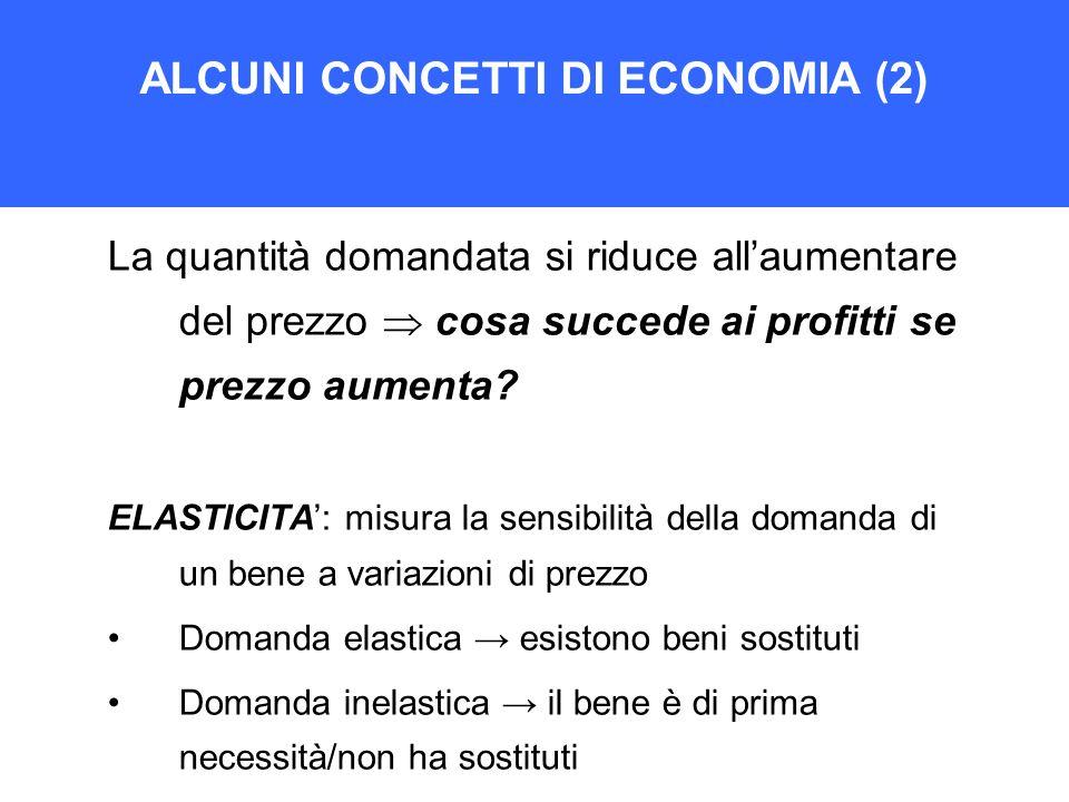 ALCUNI CONCETTI DI ECONOMIA (2)