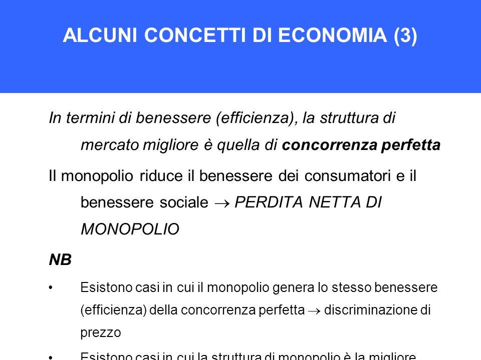 ALCUNI CONCETTI DI ECONOMIA (3)