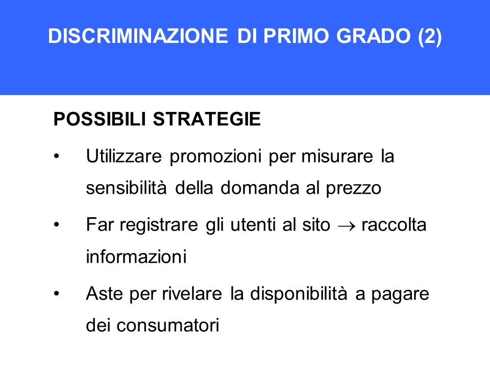 DISCRIMINAZIONE DI PRIMO GRADO (2)