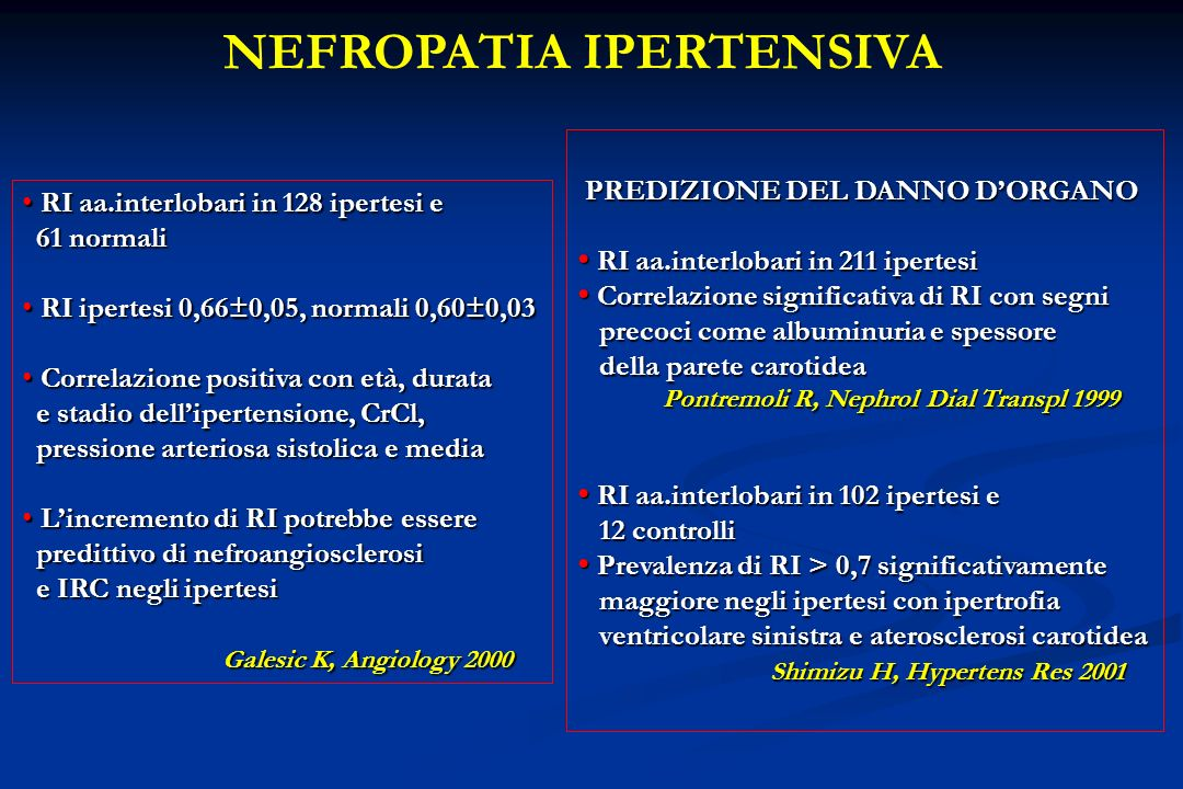 NEFROPATIA IPERTENSIVA
